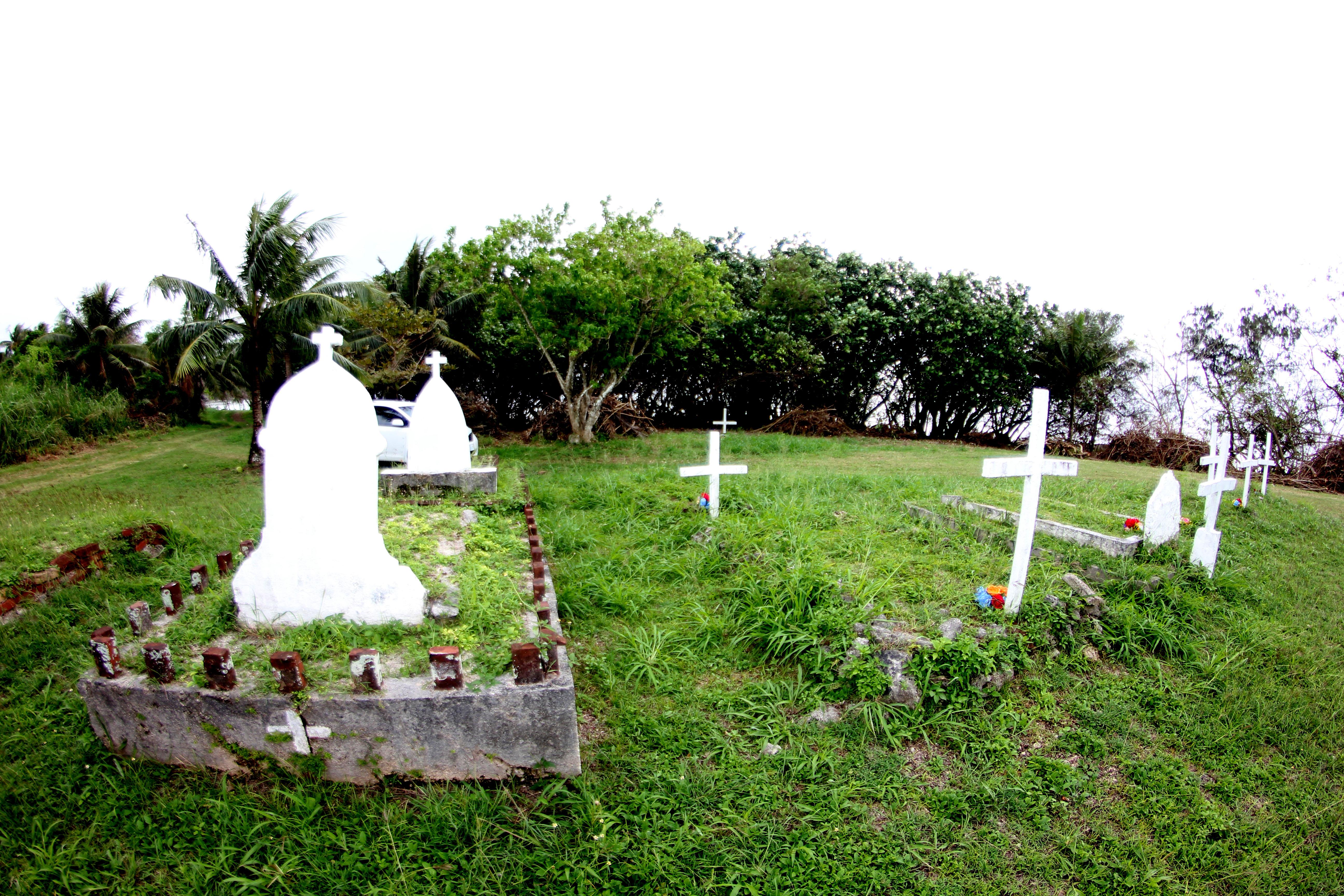 Tinian leprosarium cemetery